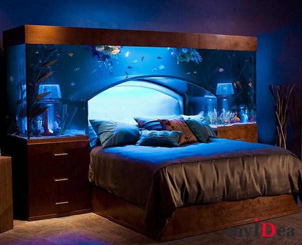 Дом мечты: Кровать с аквариумом
