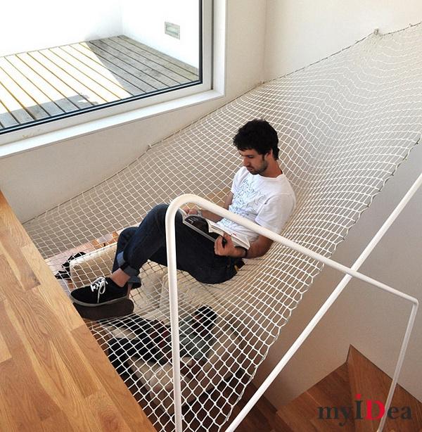 Дом мечты: Гамак над лестницей
