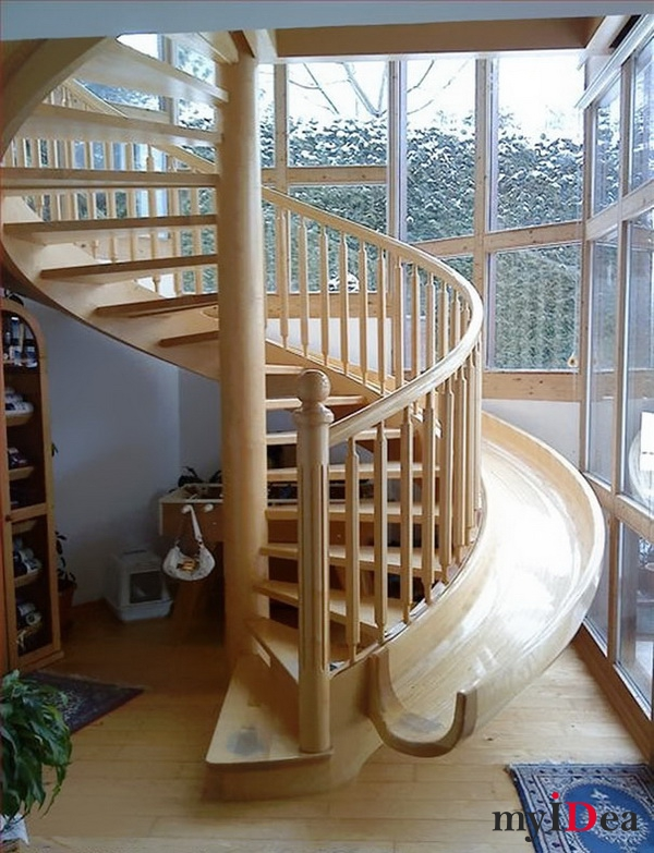 Дом мечты: Винтовая лестница-горка